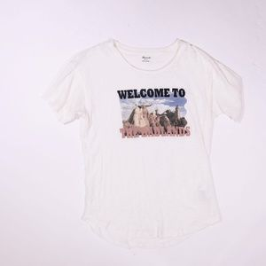 Madewell Welcome To The Badlands Cotton Tee Shirt